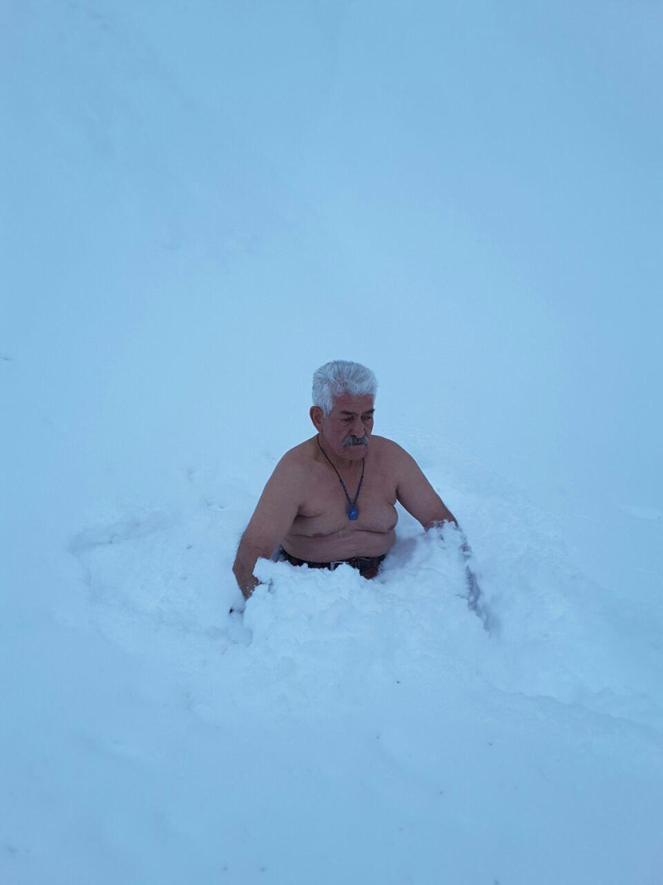 مرد برفی در ارتفاعات شمشک+عکس