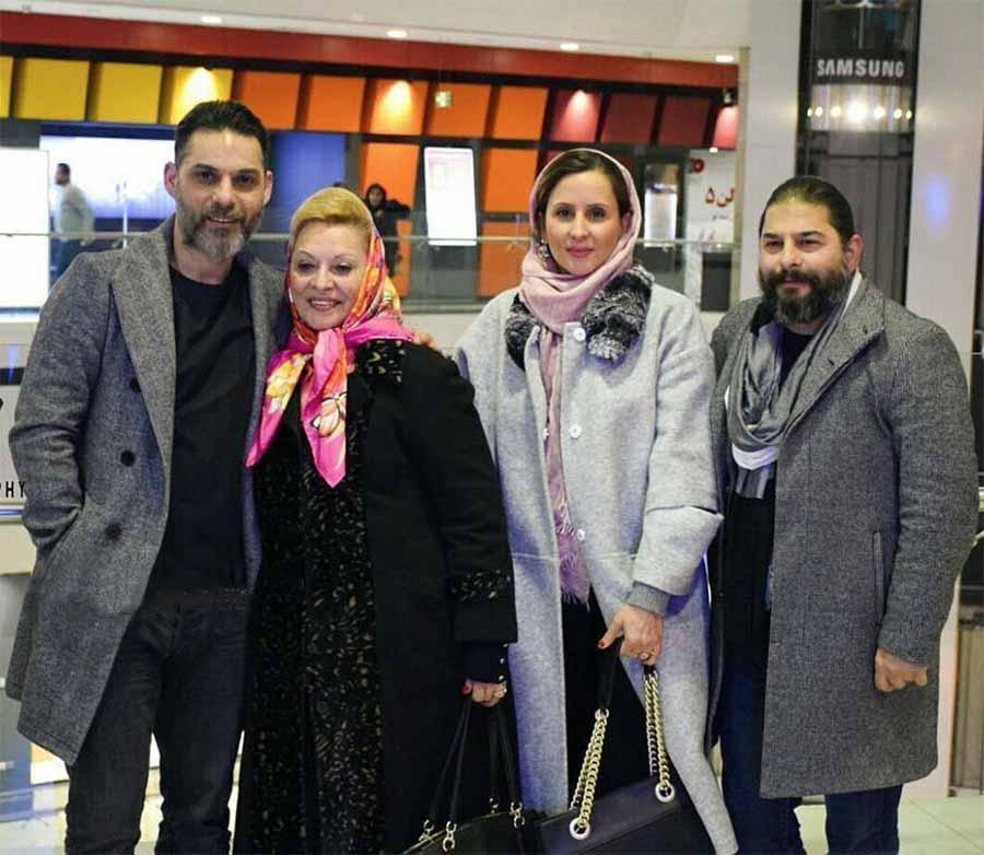 پیمان معادی با خانواده در جشنواره فجر +عکس
