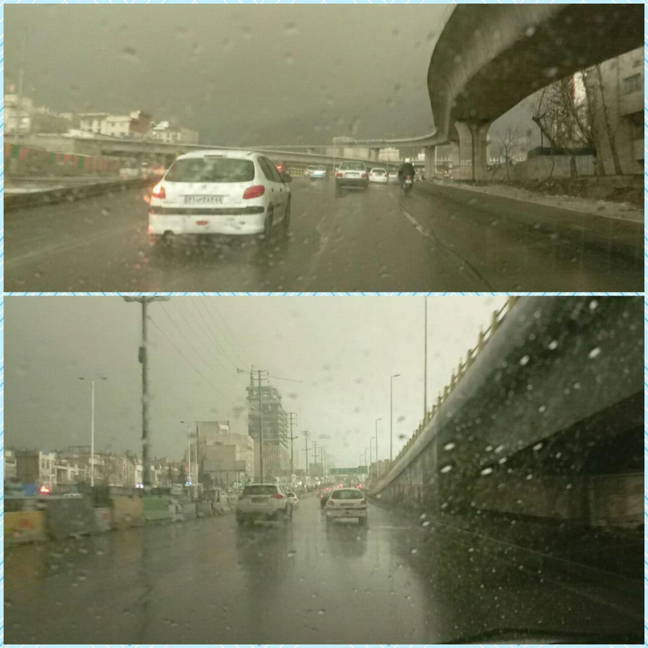 بارش باران امروز در تهران +عکس