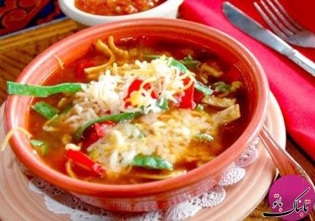 سوپ تند مرغ به روش مکزیکی