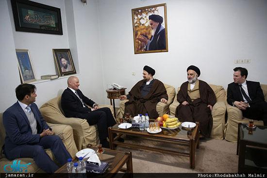 دیدار سفیر آلمان در ایران با یادگار امام+عکس