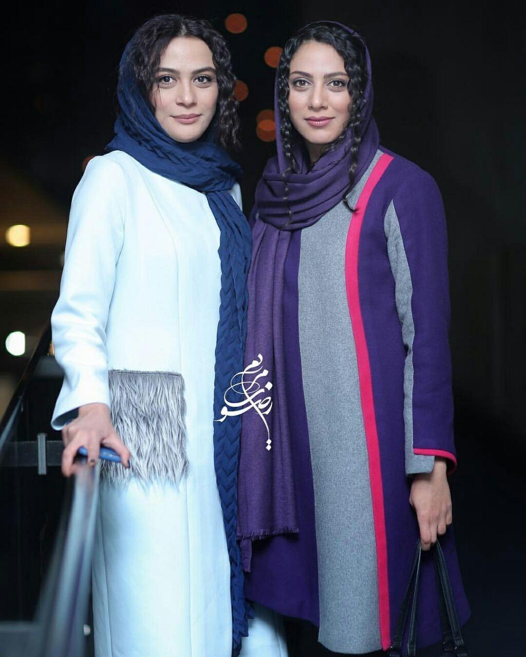 مونا فرجاد و خواهرش در جشنواره فیلم فجر+عکس