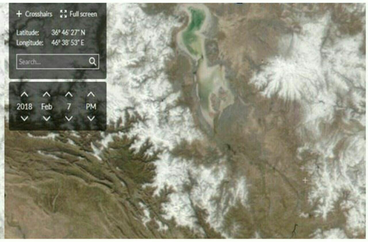وضعیت کنونی دریاچه ارومیه+عکس