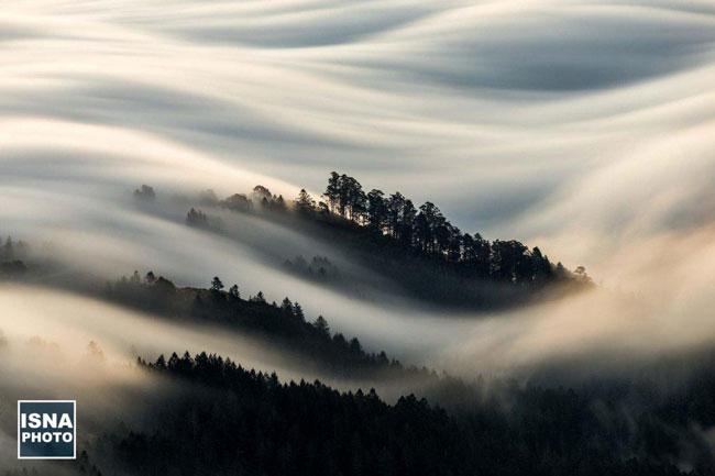 عکس روز نشنال جئوگرافیک؛حرکت ابرها در کالیفرنیا