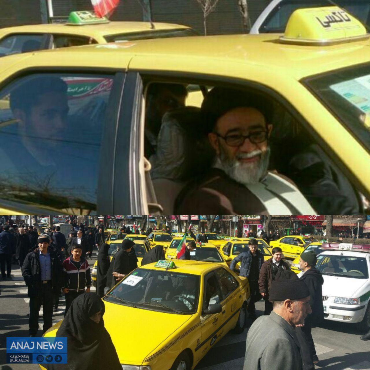 امام جمعه تبریز با تاکسی بی سیم به منزل رفت +عکس