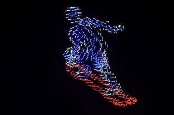 پرواز ۱۲۰۰ پهپاد در المپیک زمستانی +عکس