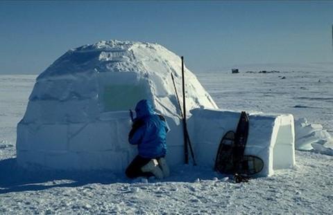 ساخت کلبههای يخی اسکيموها بدست پناهجويان در استرالیا