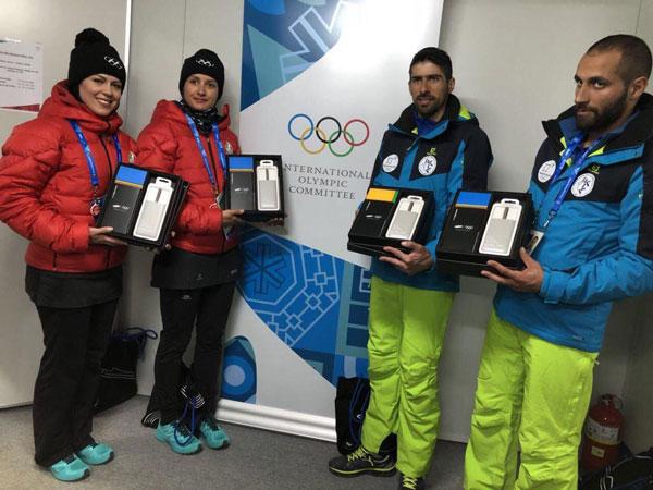 المپیکیهای ایران هدیههای سامسونگ را گرفتند+عکس