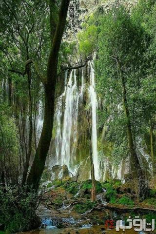 آبشاری زیبا در غرب ایران + عکس