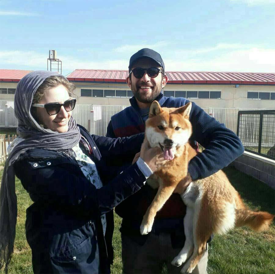 سگ خانگی بابک حمیدیان و همسرش+عکس