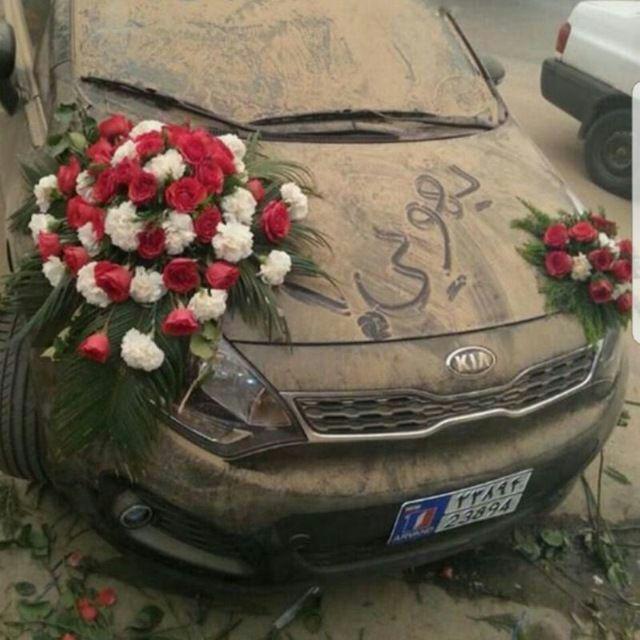 ماشین عروس متفاوت در ماهشهر +عکس