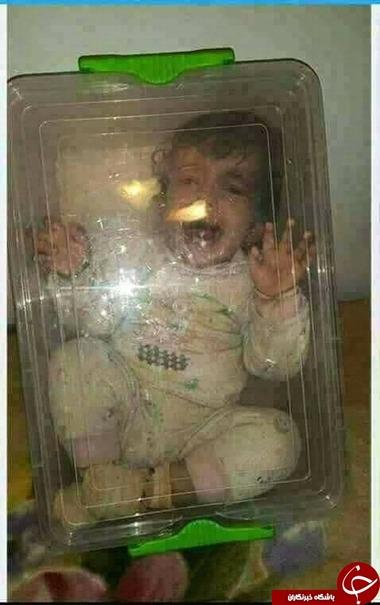 اقدام بیرحمانه یک مادر برای قطع گریههای دخترش+عکس
