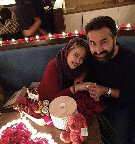 بهاره رهنما و همسرش در شب ولنتاين +عکس
