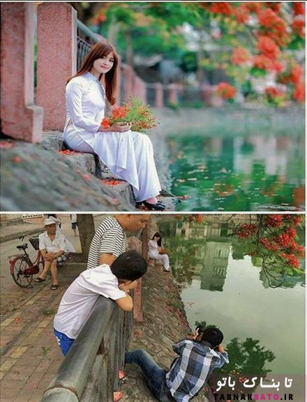 صحنه عکس های حرفه ای از پشت دوربین عکاسان