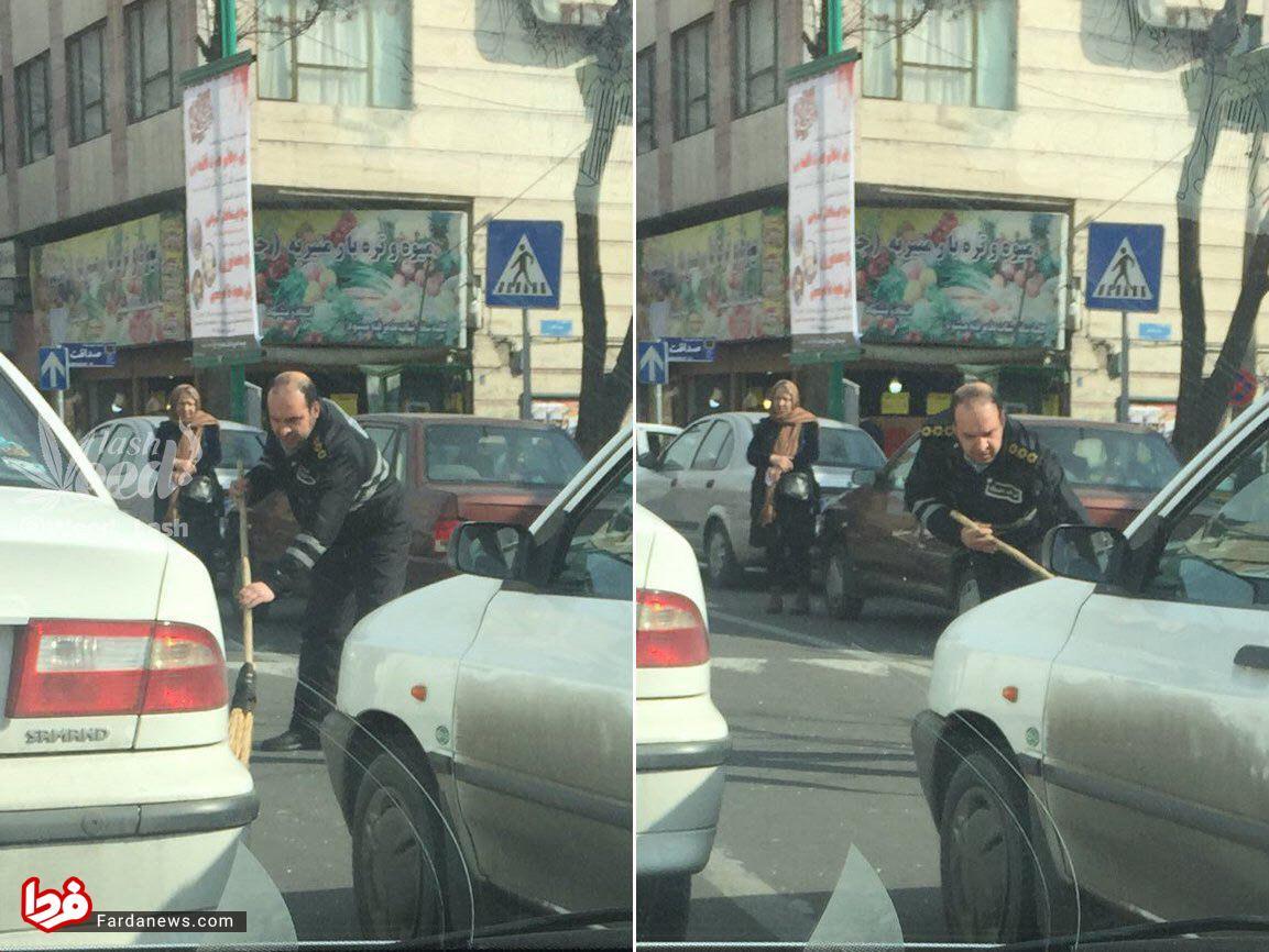 کار پسندیده پلیس راهنمایی و رانندگی +عکس