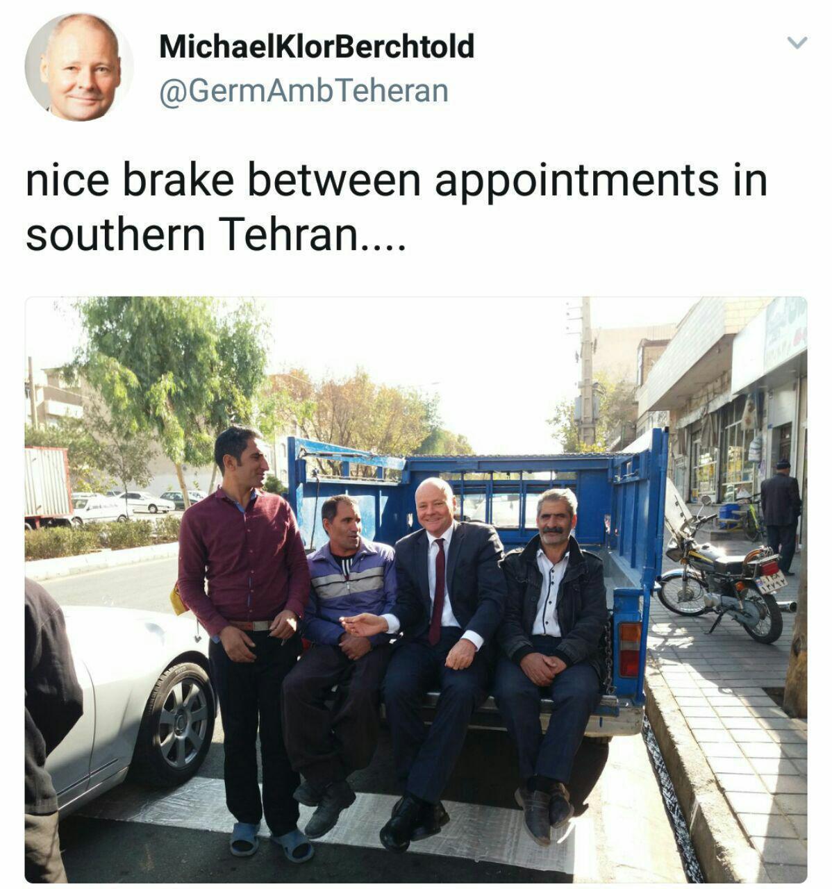خودروی محبوب سفیر آلمان در ایران + عکس