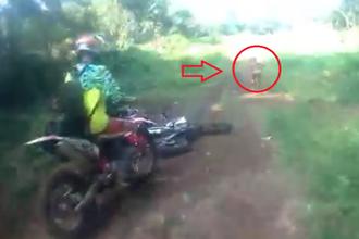 وحشت موتورسواران از موجود مرموز در دل جنگل +عکس