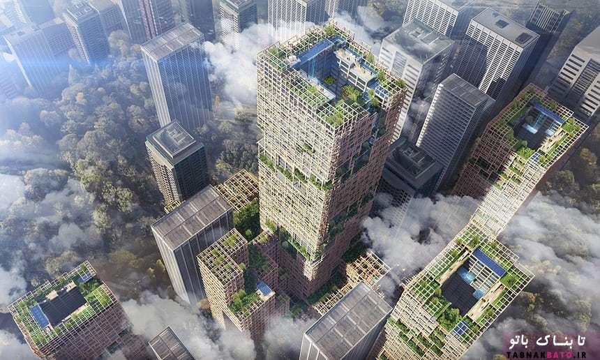 بلندترين آسمان خراش چوبي جهان در توكيو