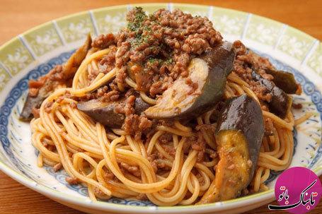 طرز تهیهی اسپاگتی و بادمجان