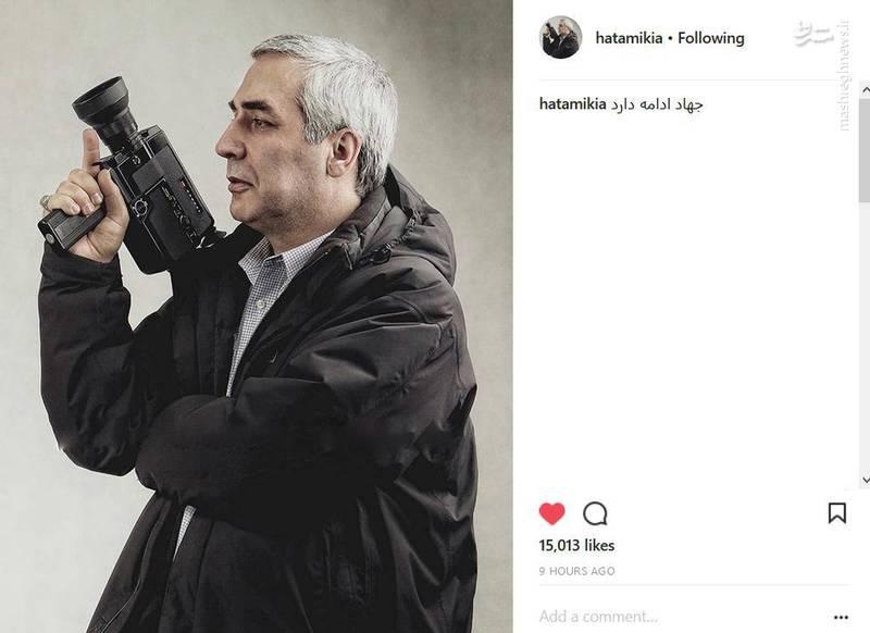 حاتمیکیا دوباره دست به سلاح شد+عکس