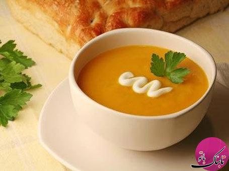 طرز تهیهی سوپ هویج و پرتقال