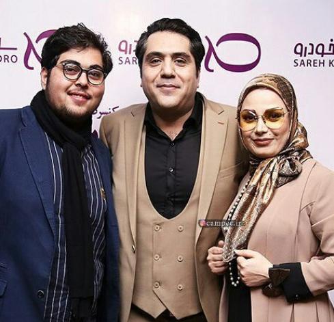 مانی رهنما در کنار پسر و همسر مجریاش +عکس