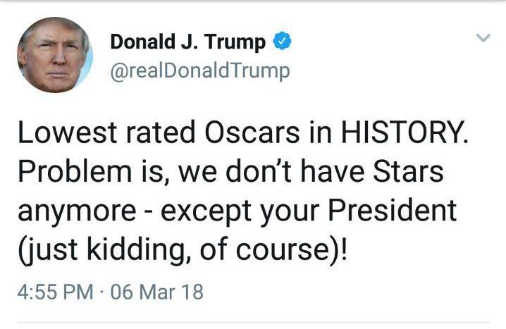 جواب تاریخی مجری اسکار به توئیت ترامپ +عکس