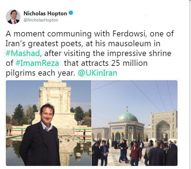 سفر سفیر انگلیس به مشهد +عکس