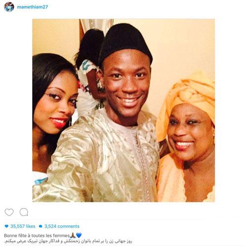 تیام روز مادر را تبریک گفت +عکس
