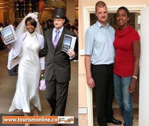 بلندترین زن و شوهر جهان +عکس