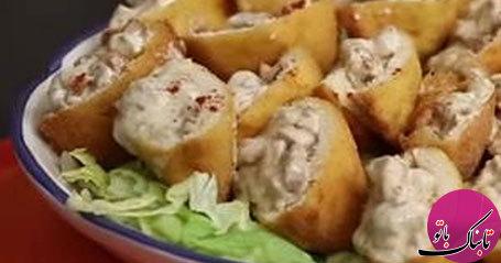 نان باگت با قارچ و پنیر، ساده و لذیذ