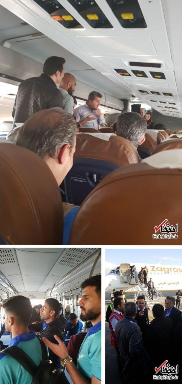 نقص فنی یک هواپیما و بازگشت به مهرآباد +عکس