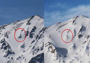 مدفون شدن آثار هواپیمای آسمان زیر برف +عکس