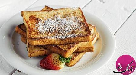 طرز تهیهی نان تست به سبک فرانسوی