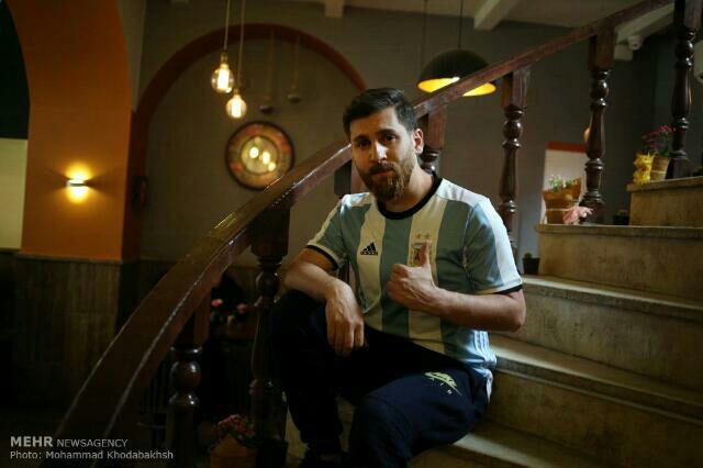 گفتگو با رضا پرستش بدل ایرانی لیونل مسی +عکس