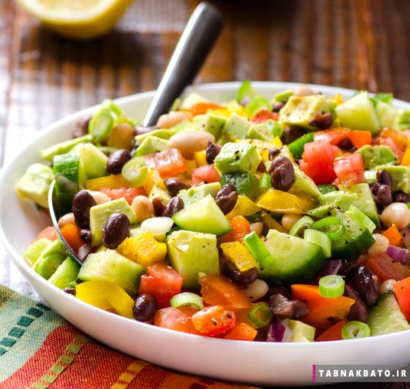سالاد سبزیجات به روش مکزیکی
