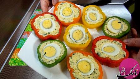 دلمهی پنیر و تخممرغ، لذیذ و متفاوت