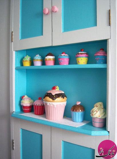چیدمان جالب یک آشپزخانه با تم کیک