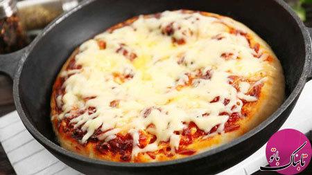آموزش پخت یک نوع پیتزا بدون فر