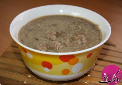 طرز تهیهی سوپ برنج و گوشت قلقلی