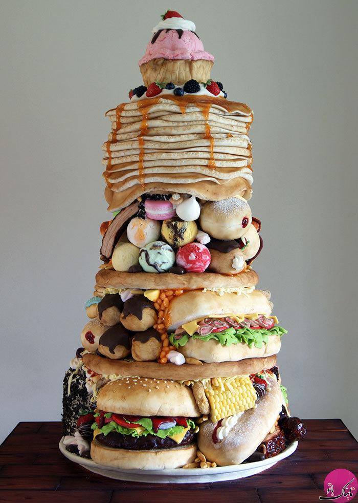 فست فودهایی از جنس کیک