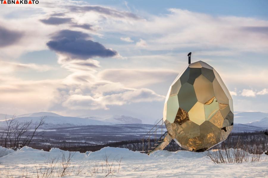 ساخت سونا به شکل تخم مرغ طلایی