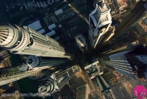 پرواز دیدنی نه بر فراز بلکه از میان برجهای شهر دوبی!