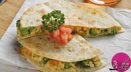 کیسادیای سبزیجات؛ غذای مکزیکی