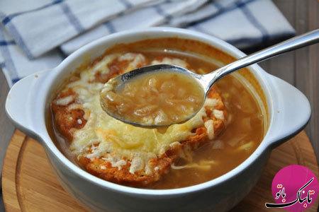 طرز تهیهی سوپ پیاز فرانسوی