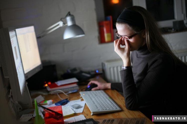 مشکلات چشم ناشی از کار با کامپیوتر