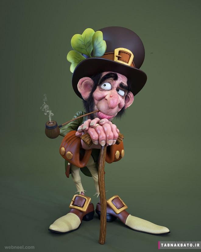 شخصیت های کارتونی سه بعدی جالب و دیدنی