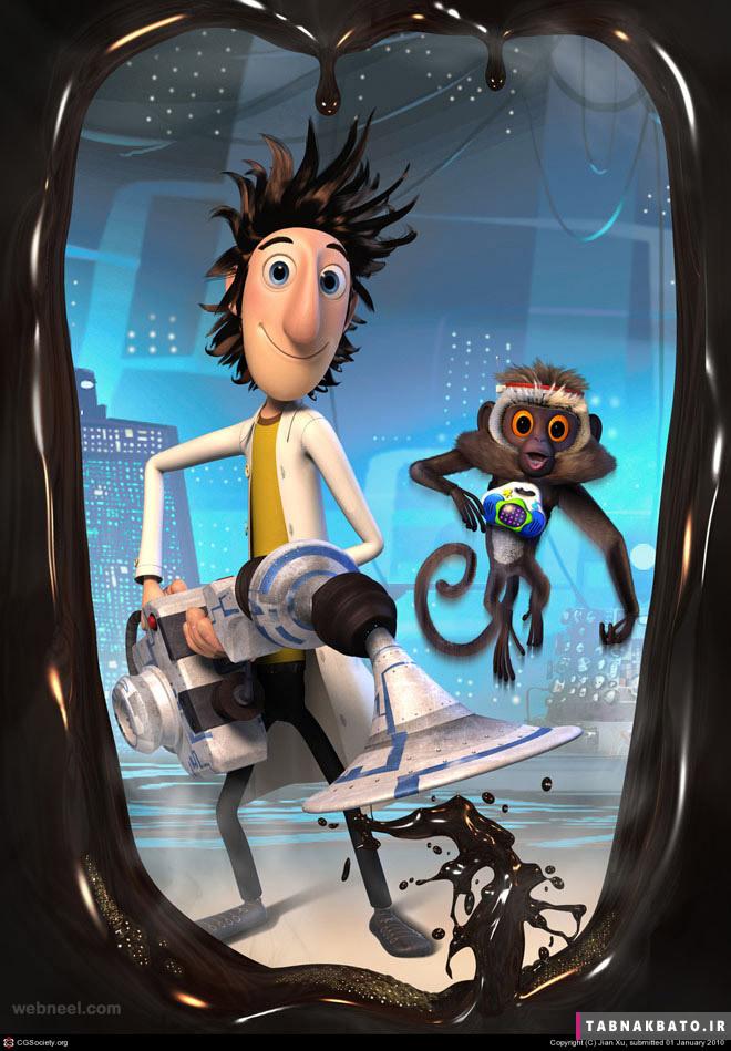 شخصیت های کارتونی سه بعدی بامزه و جالب