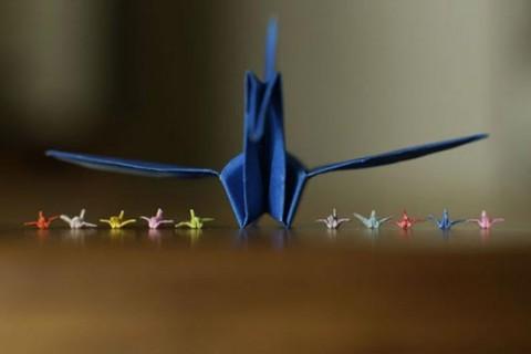 اوریگامی کوچکی که ساخت آن ۴۵ دقیقه زمان میبرد