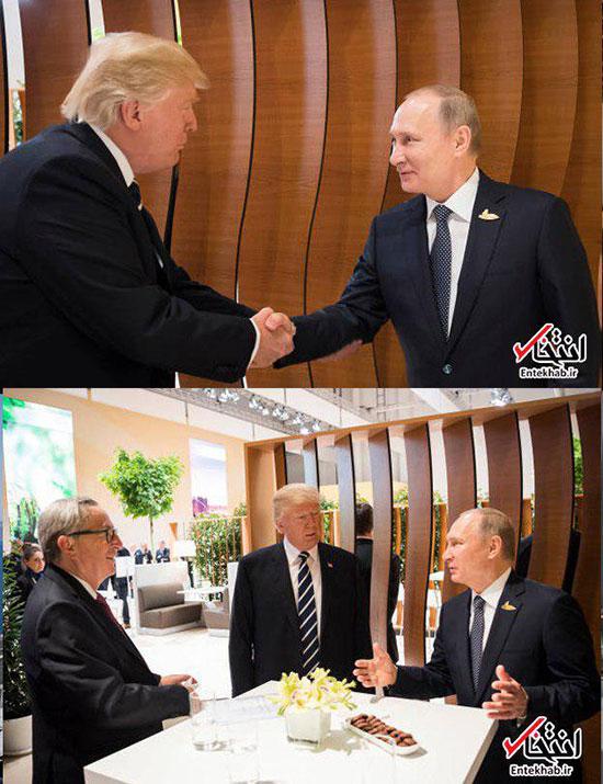 اولین دیدار چهره به چهره پوتین و ترامپ+عکس
